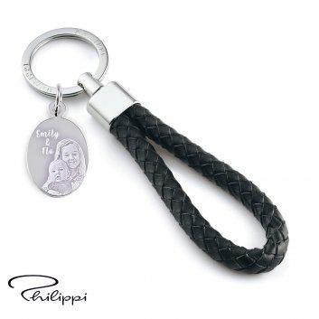 Leder-Schlüsselanhänger Sergio von Philippi mit Foto