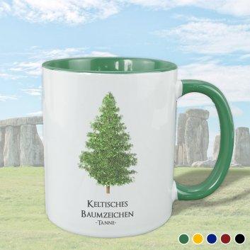 Keltisches Baumzeichen mit Tanne Motiv