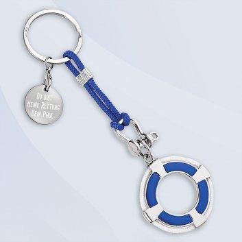 Rettungsring Schlüsselanhänger mit Gravur