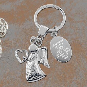 Helfer Schlüsselanhänger mit Gravur und Shabby Chic Hintergrund
