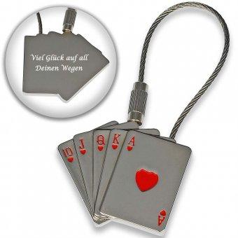 Schlüsselanhänger royal flash Herz mit Gravur