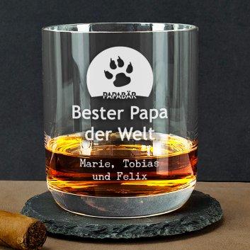 Bester Papa Whiskyglas mit Gravur