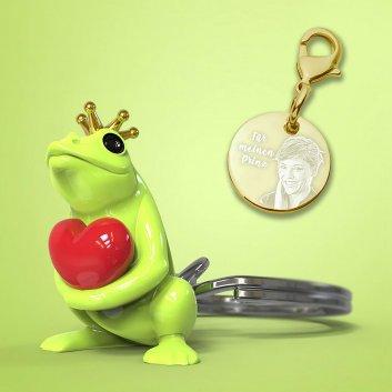 Froschkönig Schlüsselanhänger mit Gravur