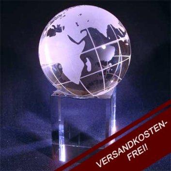 Fotoglas Weltkugel mit persönlicher Gravur.