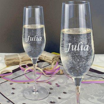 Sektglas mit Gravur von Stölzle