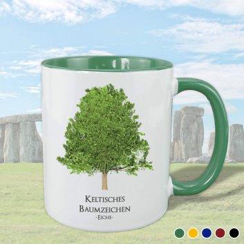 Keltisches Baumzeichen mit Eiche Motiv in gruen