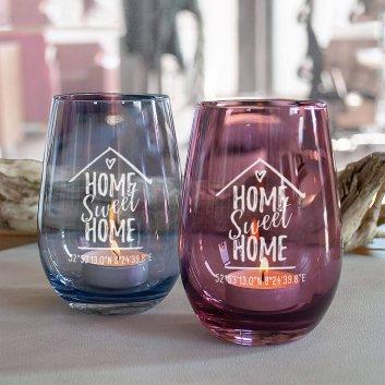 Teelicht Home Sweet Home mit Gravur