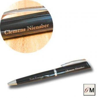 Drehkugelschreiber Profile schwarz mit gravierten Namen