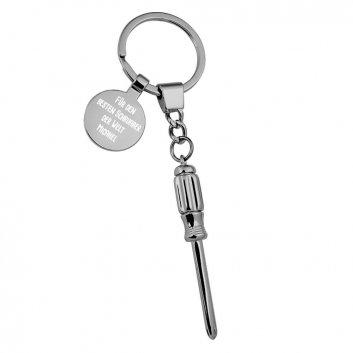 Schraubendreher Schlüsselanhänger mit Gravur