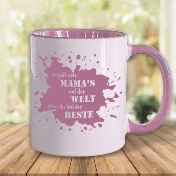 Muttertagstasse in Rosa mit rosa Motiv