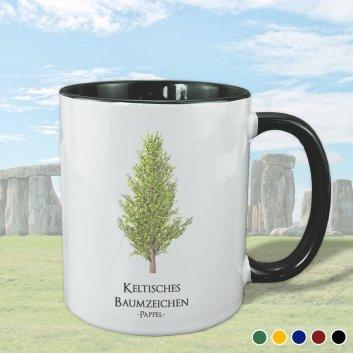 Keltisches Baumzeichen mit Pappel Motiv