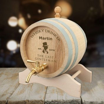 Whiskyfass mit Gravur für den letzten Gentleman