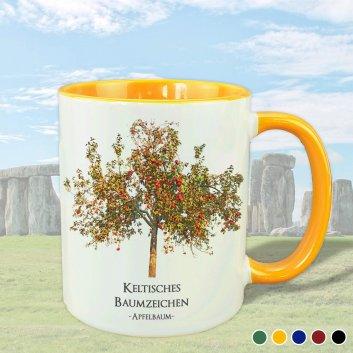Keltisches Baumzeichen mit Apfelbaum Motiv