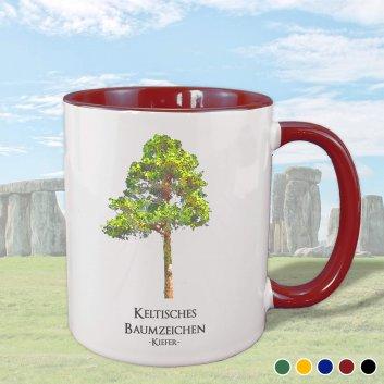 Keltisches Baumzeichen mit Kiefer Motiv