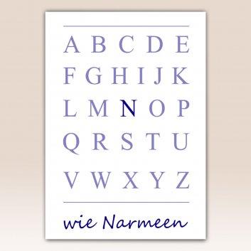 Nielsen Bilderrahmen mit Buchstaben Poster und Namen
