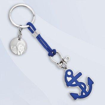 Maritimer Schlüsselanhänger Anker mit Gravur