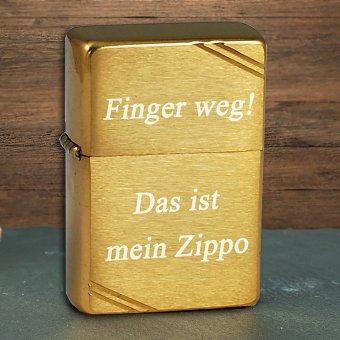 Zippo Feuerzeug Vintage brushed brass mit Gravur