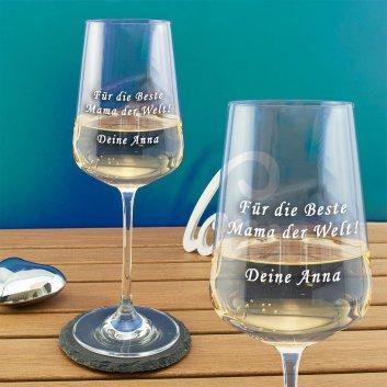 Premium Weißweinglas von Spiegelau mit Gravur
