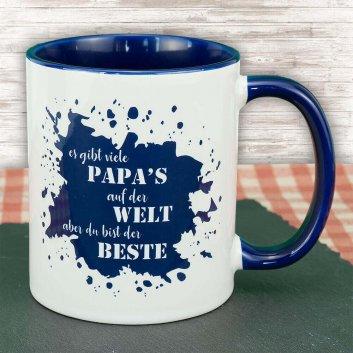 Tasse zum Vatertag mit Spruch - es gibt viele Papa´s auf der Welt aber du bist der Beste