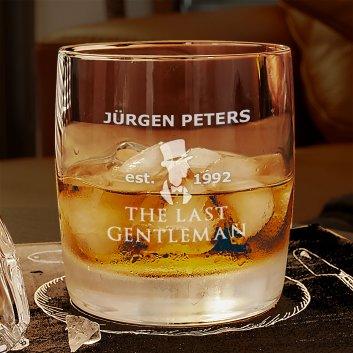 Whiskyglas mit Gravur für den letzten Gentleman