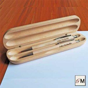 Schreibset Buche mit zwei verschiedenen Stiften