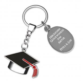 Diplomhut Schlüsselanhänger mit Gravur