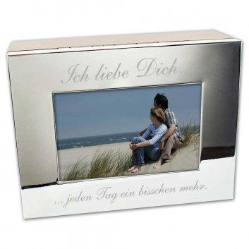 Foto Box mit Gravur Vorderansicht