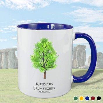 Keltisches Baumzeichen mit Nussbaum Motiv