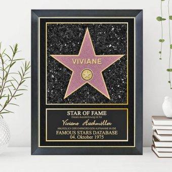 Star of Fame Poster mit Nielsen Bilderrahmen Classico