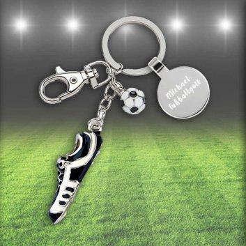 Fußballschuh Schlüsselanhänger mit Gravur