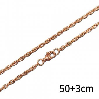 Ankerkette rosé in 50 cm