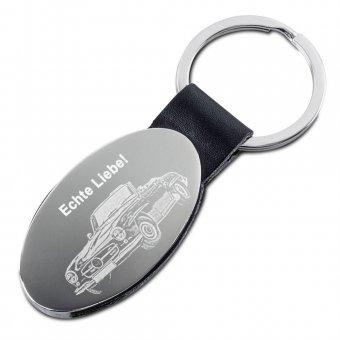 Ovaler Schlüsselanhänger mit Fotogravur