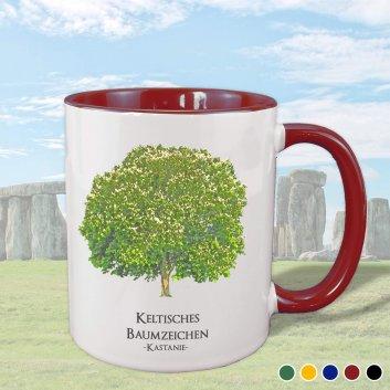 Keltisches Baumzeichen mit Kastanie Motiv