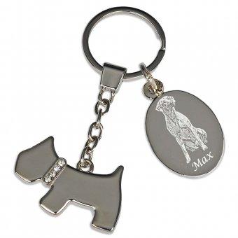 Schlüsselanhänger Hund mit Fotogravur