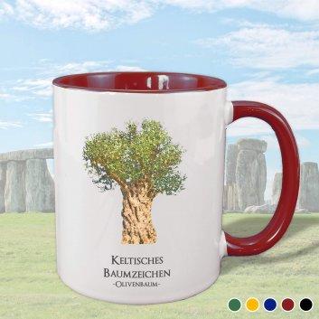 Keltisches Baumzeichen mit Olivenbaum Motiv