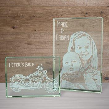 Glasfoto mit Enkelkindern als Weihnachtsgeschenk