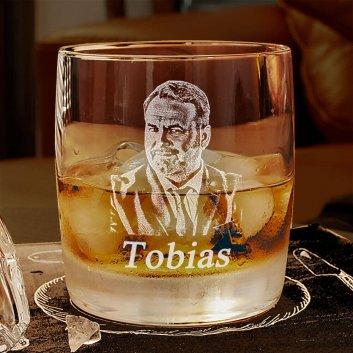 Whiskyglas mit Fotogravur von Spiegelau