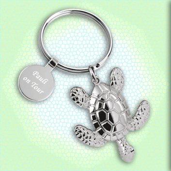 Schildkröten Schlüsselanhänger mit Gravur
