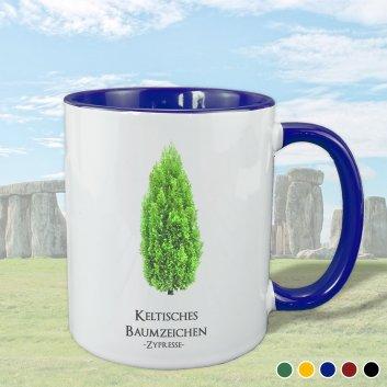 Keltisches Baumzeichen mit Zypresse Motiv