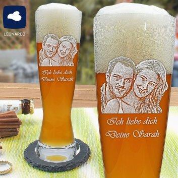Weizenbierglas mit Fotogravur von Spiegelau 0,5 Liter