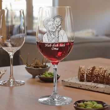 Rotweinglas mit Gravur von LEONARDO - Serie Ciao+