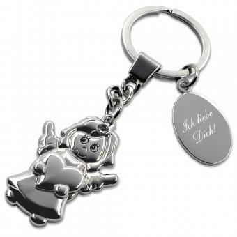 Liebesengel Schlüsselanhänger mit Gravur