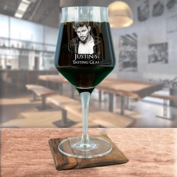 Craft Beer Tasting Glas mit Foto und Text