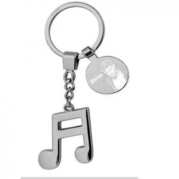 Schlüsselanhänger mit Musiknote und Foto