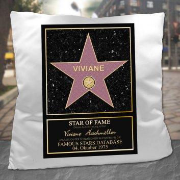 Walk of Fame Kissen mit Namen und Datum