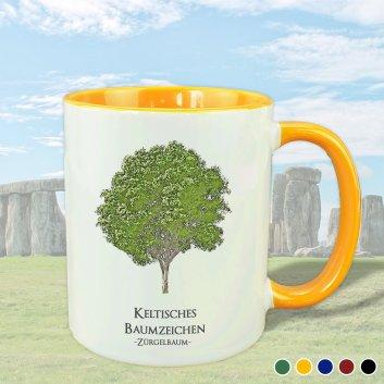 Keltisches Baumzeichen mit Zürgelbaum Motiv