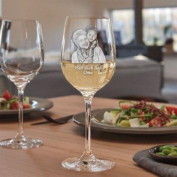 Weißweinglas mit Fotogravur von LEONARDO Serie Ciao+