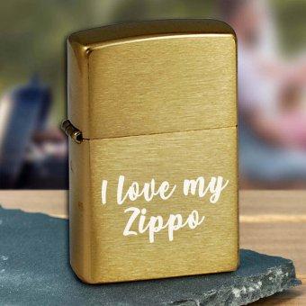 Zippo Feuerzeug mit Gravur messing gebürstet