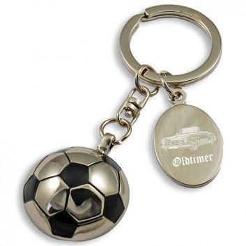 Schlüsselanhänger Fußball mit Fotogravur, Auto