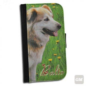 Galaxy S3 Flip Case mit Fotodruck von einem Hund